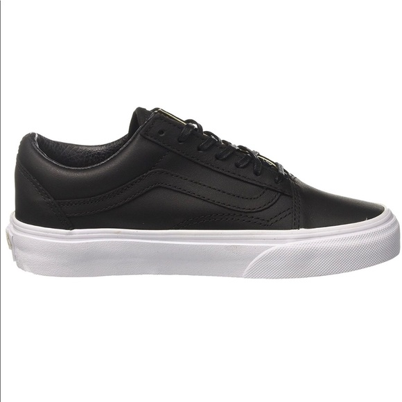 Furgonetas Viejos Zapatos De Cuero Negro Skool Postal (mujer) L6GGpZHpV